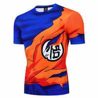 2019 nuevo de Dragon Ball Z camiseta de Goku 3D los hombres camiseta de compresión del traje de Cosplay de la bola del dragón del camisetas transpirable fresco Tops