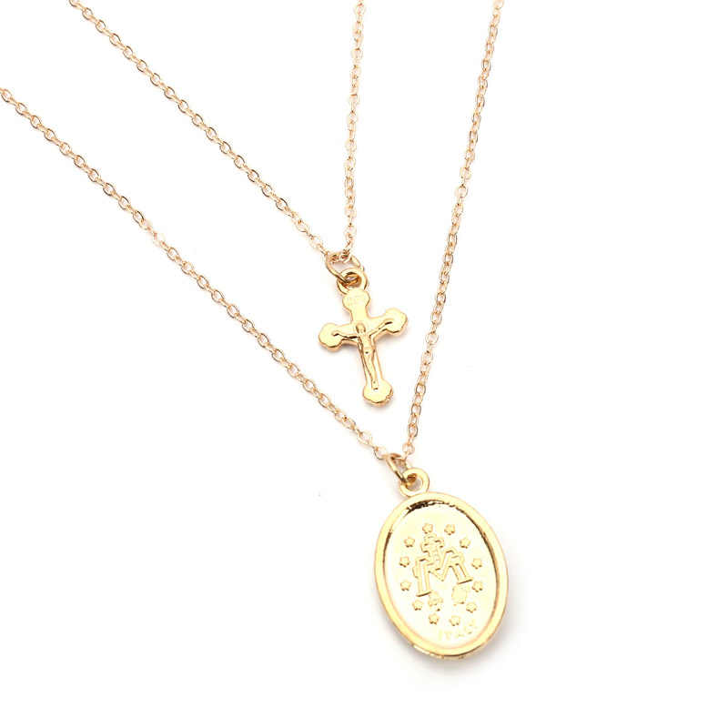 991c3a0b1352 ... Fashion Jewelry Womens Accessories Gold Long Cross Chains Necklace  Pendant Chokers Necklaces For women Religious Icon ...