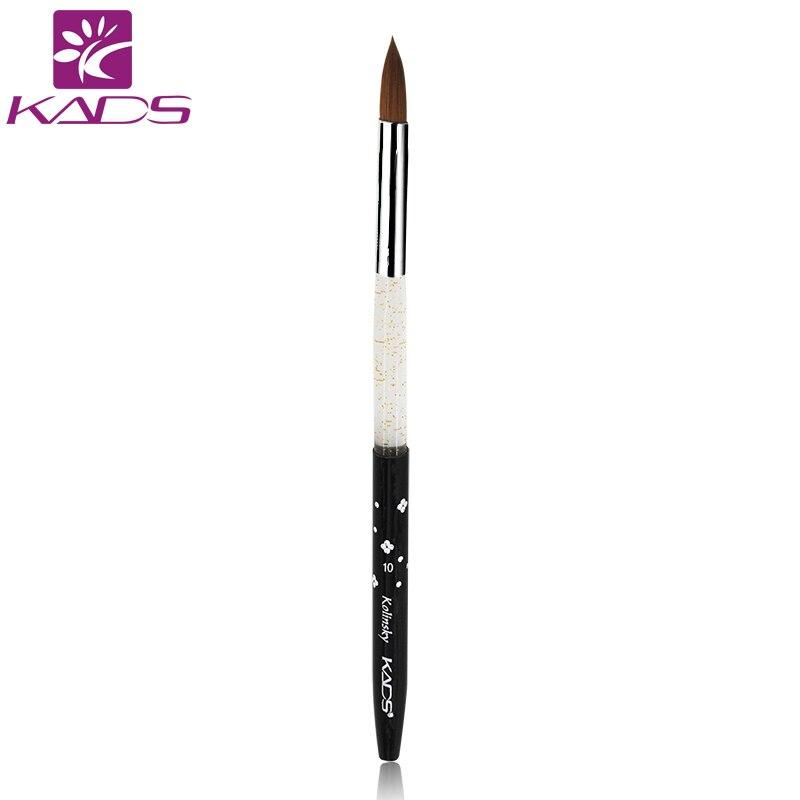 KADS 5pcs Professional 10 Acrylic Brush 100 Kolinsky Sable Nail Art Brush For Amazing Nail Art