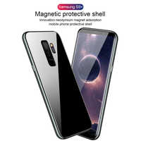 S9+ Built-in Magnetic Case for Samsung Galaxy S9 Plus Case Tempered Glass Magnet Adsorption Case for Samsung S9 Plus Glass Film
