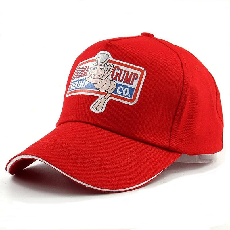 1994 BUBBA GUMP SHRIMP CO. printing Baseball cap unisex Sport Summer Cap red summer Hat Forrest Gump Costume fashion hats