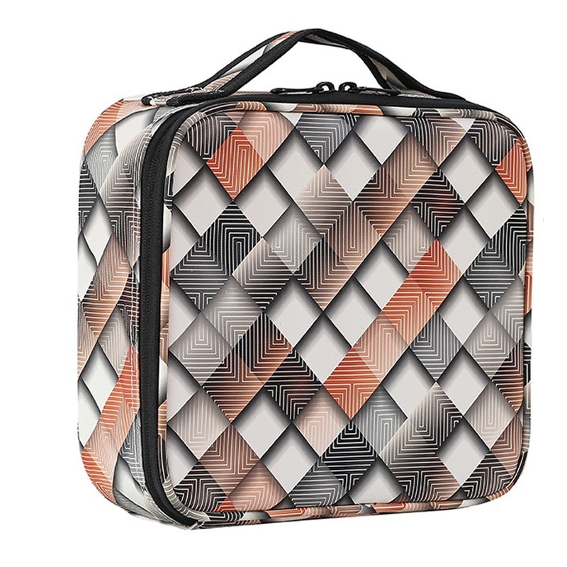 Professional Empty Bolso Mujer Makeup Organizer Portable Travel Makeup Cosmetic Case Adjustable Dividers Storage Bag Suitcases portable cosmetic bag suitcases makeup beauty professional multi function cosmetology tattoo eyebrow teacher manicure case