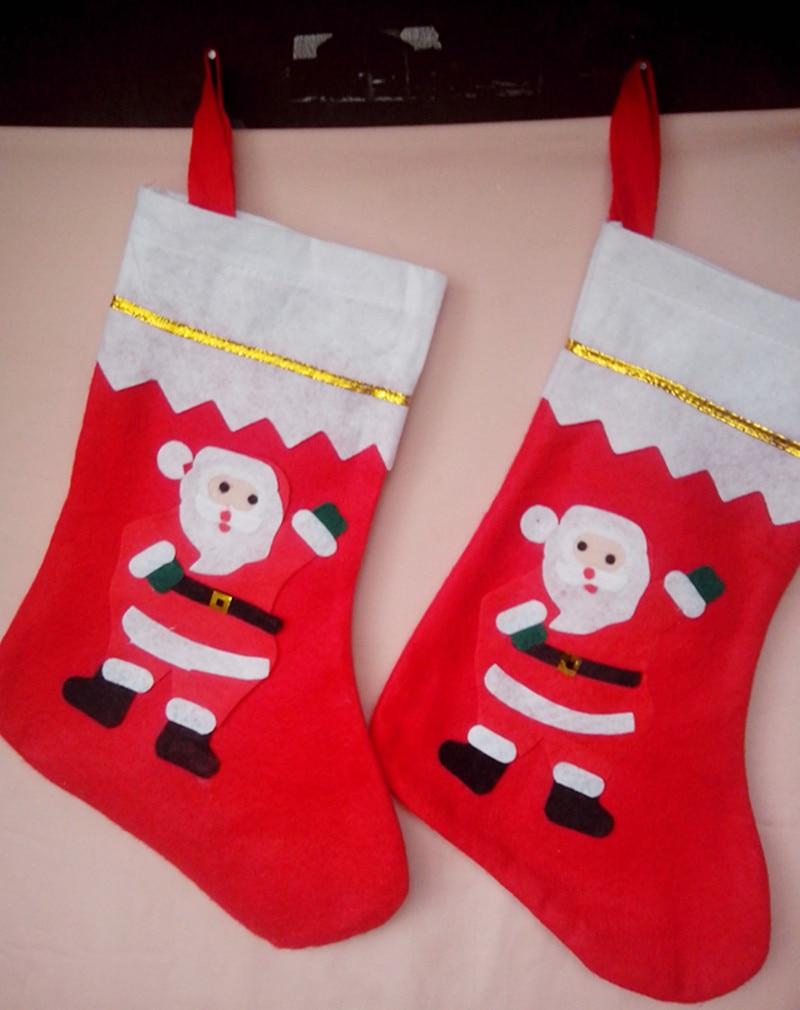 1pcs big christmas stockings 24cmw x 35cm l santa clauschristmas tree decorationschristmas tree - Big Christmas Stockings