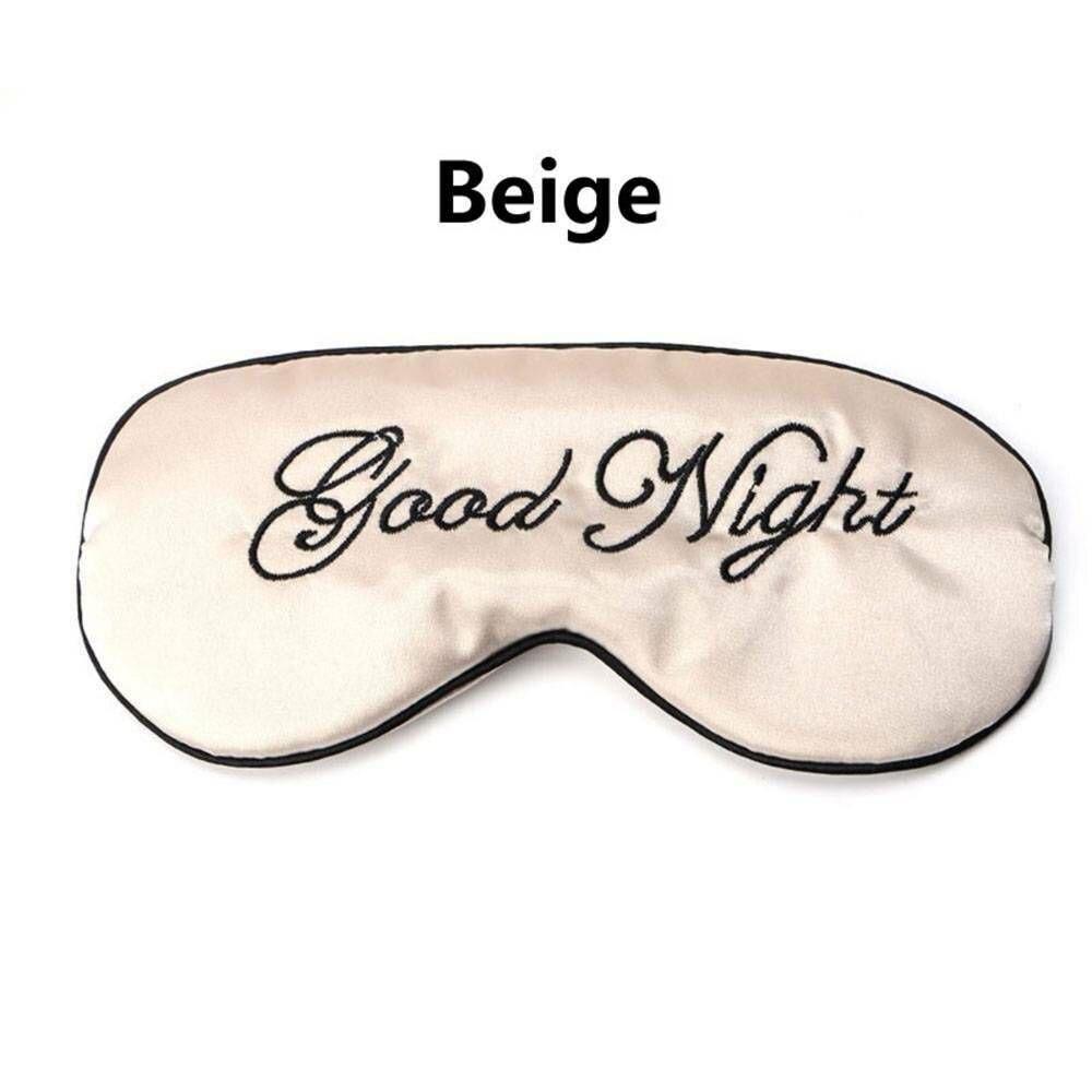 1 шт. мягкая маска для сна Расслабляющая помощь для путешествий с повязкой на глаза мягкая маска для сна тенты инструменты для ухода за глазами - Цвет: beige