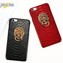 KISSCASE Holder Case For Apple iPhone 6 6s 7 8 Plus Phone Holder Cover For iPhone X XS 5 5s SE Cases 3D Lion Finger Ring Stand kisscase shockproof armor cases for iphone 6 6s 7 8 plus xs case for iphone x 5 5s se xs xs max xr finger ring holder case funda