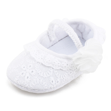Baby Soft Sole  Shoes Christen & Baptism New Design Lies Style Non-slip Newborn First Walkers