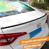 Car Carbon Fiber Spoilers Sticker For Mercedes W211 W203 W204 W210 W205 W212 W220 W176 AMG For Cadillac CTS SRX ATS Accessories