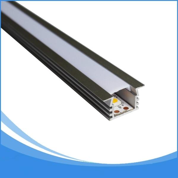 20 STKS 2 m lengte aluminium led kanaal gratis verzending led strip - LED-Verlichting