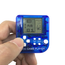 Mini Classical Game Tetris Electronic Cyber Machine Education Toys For Kids Keychain Gifts color random