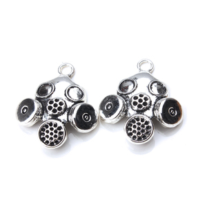Image 2 - 5pcs/lot 33 x 28mm Gas Mask Charms Antique Silver Color for diy charms jewelry accessories necklace pendant findings making