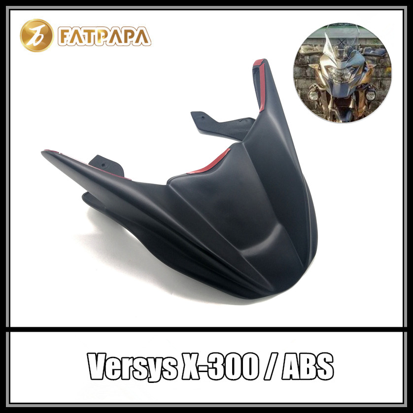 Motorcycle Accessories Headlight Fairing front Retrofit fender For KAWASAKI Versys300 Versys X300 Versys 300 Versys-X300 колонка logitech x300 984 000412