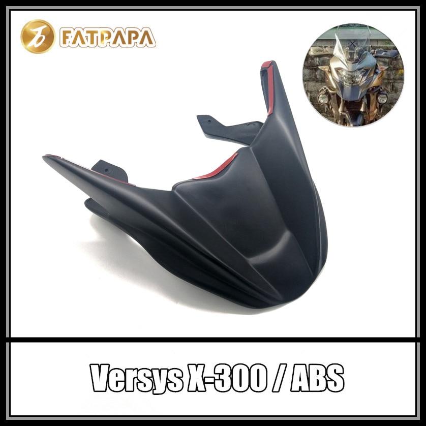 Motorcycle Accessories Headlight Fairing front Retrofit fender For KAWASAKI Versys300 Versys X300 Versys 300 Versys-X300 стоимость