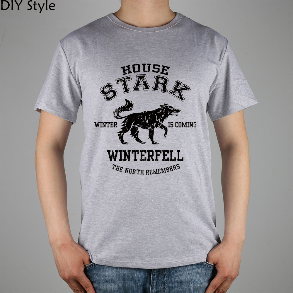Jy House Stark Game Of Thrones T Shirt Top Lycra Cotton