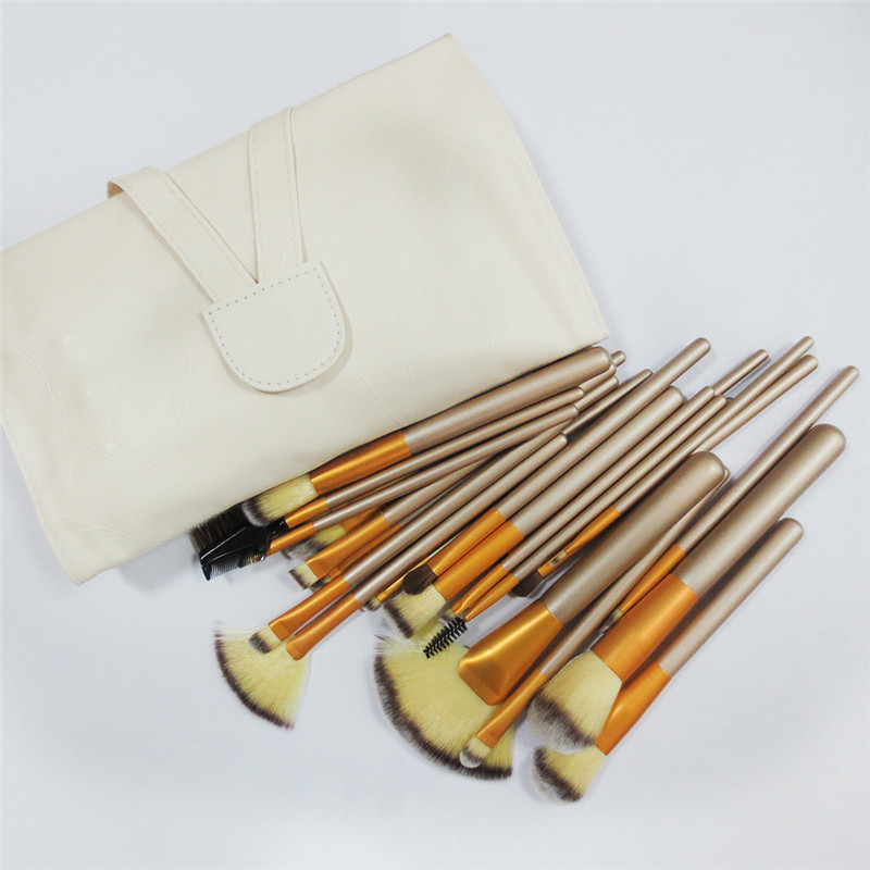 24PCS Pro Powder Makeup Brushes Set Blush Foundation Eyeshadow Eyeliner Lip Hair Brush cleaner Cosmetic Kit Beauty Tool Cosmetic new 32 pcs makeup brush set powder foundation eyeshadow eyeliner lip cosmetic brushes kit beauty tools fm88
