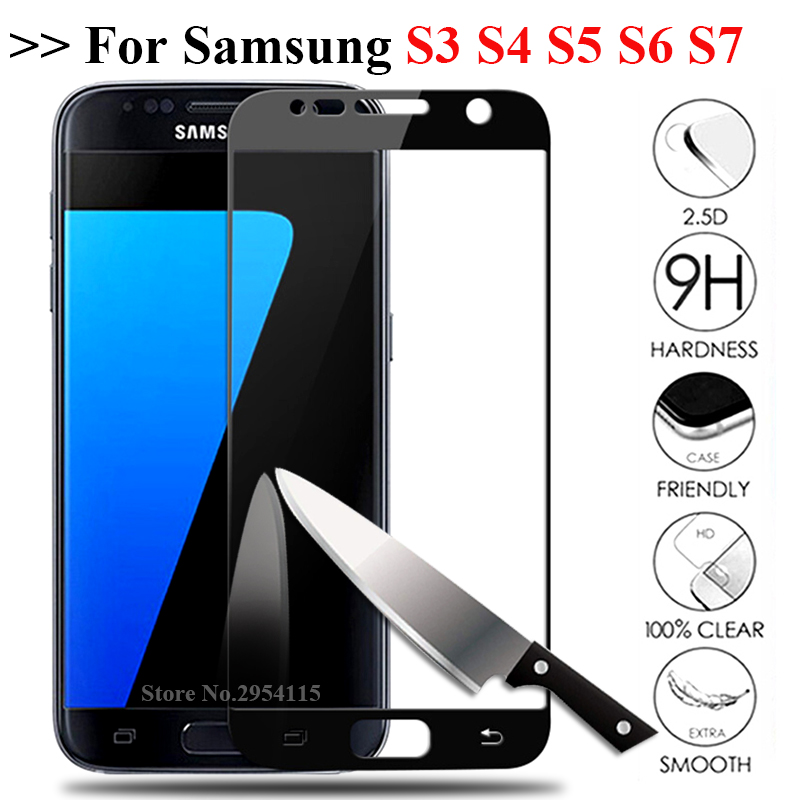 Tempered <font><b>Glass</b></font> For <font><b>Samsung</b></font> Galaxy S7 S3 S4 S5 S6 Screen Protector S 3 4 5 6 <font><b>7</b></font> 5s 6s 7s Protective Glas Film note 4 5 note4 note5 image