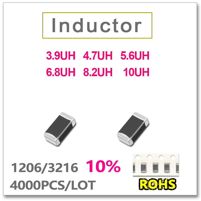 JASNPROSMA 1206 3216 4000PCS SMD Multilayer low Frequency Inductor 10 3 9UH 4 7UH 5 6UH