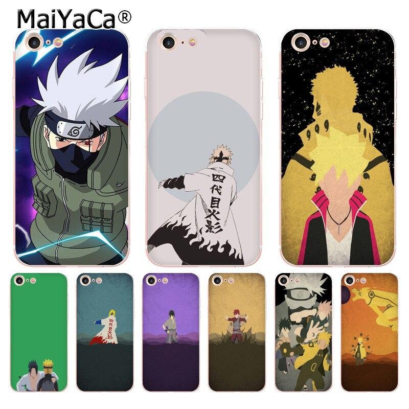 MaiYaCa Anime Naruto Minimalist Ultra Thin Cartoon Pattern Phone Case for iPhone 8 7 6 6S Plus X 5S SE 5C case Cover