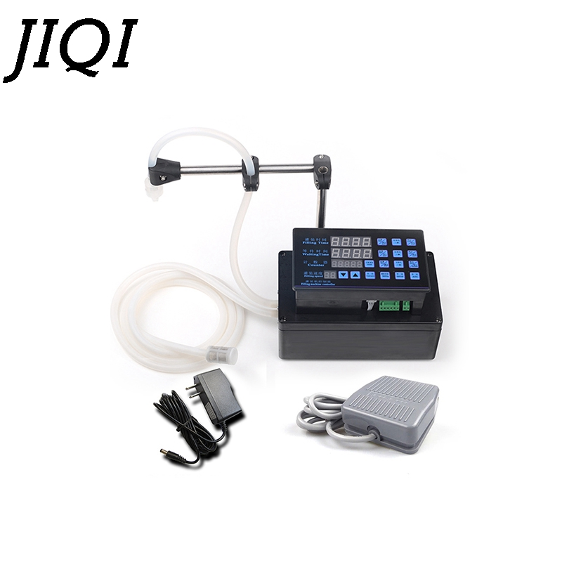 JIQI Electrical liquids filling machine MINI bottled water filler Digital Pump For perfume drink water milk olive oil 110V 220V ...