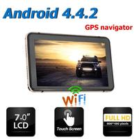 Portable 7 inch Android 4.4 GPS Navigation Car DVR Touch Screen Capacitance Screen 800*480 Pixels Sat Nav Bluetooth WiFi AV IN
