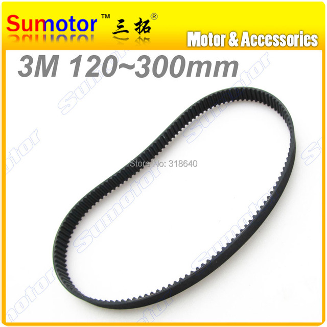 3M Arc HTD tooth Pitch 3mm Width 10mm Length 111 150 180 195 210 225 240 255 270 285 mm rubber closed Timing belt CNC 3D printer