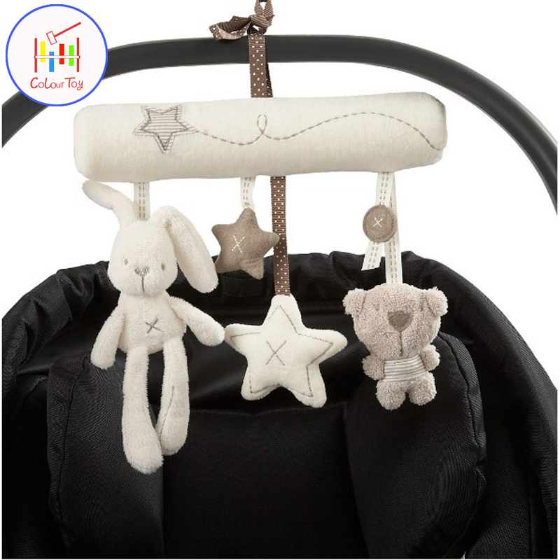 Mambobaby Bed & Stroller Toys Hanging Dolls Set Baby Carriage Accessories Activity Mobile Classic Infant Newborn Birthday Gift