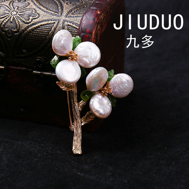 Korean Korean version of the personalized diamond pearl temperament full bricks chest brooch wild cardigan card accessories scar