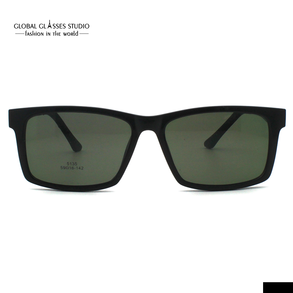 55f67e7008f Aliexpress.com   Buy Free Shipping Ultra Light Eyewear Magnetic Polarized  Sunglasses Clip On Sunglasses Fashion Trend Eyeglasses 5135 from Reliable  clip-on ...
