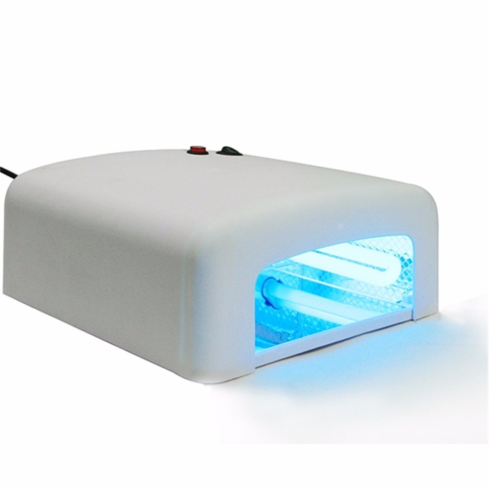 36W UV LED Nail Lamp Nail Dryer Gel Polish Curing Light with Bottom Nail Lamp For Nails Art Tools UK Plug