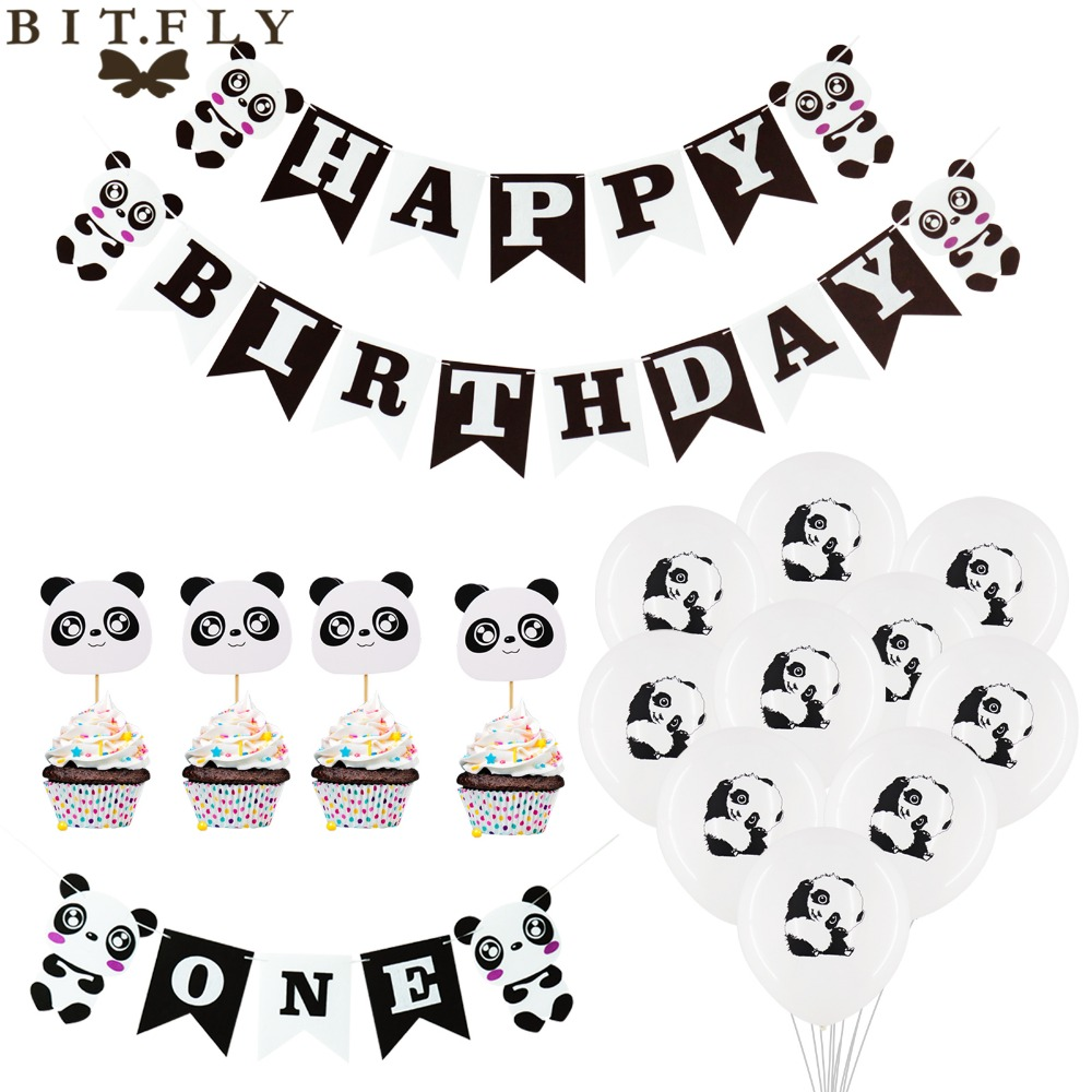 BIT-FLY-Panda-Theme-Party-Panda-Aluminum-Foil-Balloon-Happy-Birthday-Banners-Cupcake-Toppers-Birthday-Kids