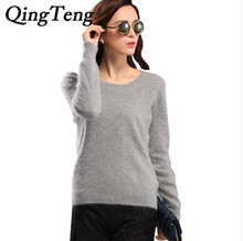High Quality Autumn Winter Knitted 100% Mink Cashmere Sweater Women 2015 NEW European Women Fashion Outwear Pullovers 21 Colours