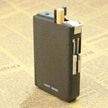 Free shipping Dual use Cigarette Accessories Gas windproof lighter cigarette box (Can be installed 10pcs smoke ) xiao618