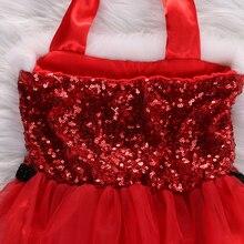 Christmas Baby Girls Sleeveless Pullover Rompers Jumpsuit Playsuit Santa Tutu Dress