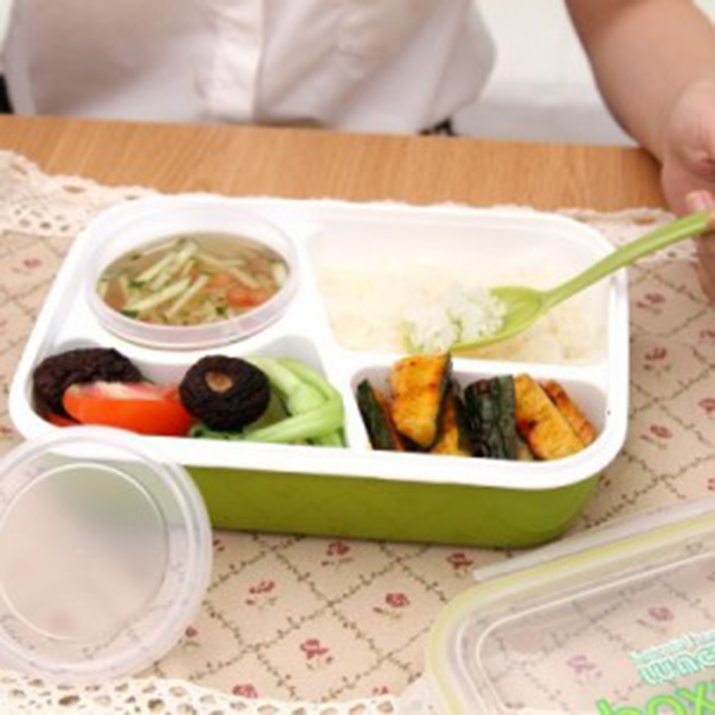Keythemelife Lunch boxs tableware food container bento Video show with soup bowl children dinnerware DF(China (Mainland))
