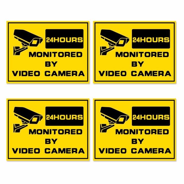 Pcs HOME Security Hr SURVEILLANCE System Warning Security - Window stickers for home security