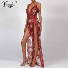Sexy Sequins Summer Dress Women Backless perspective Maxi Long dress robe femme Luxury Night club Womens Party Dresses vestidos цена
