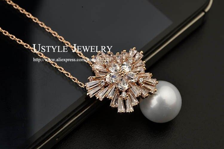 Pearl Pendant Necklace For Women Accessories(Ustyle UN0008)