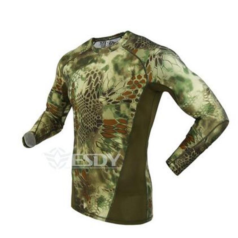 yeni taktiki kamuflyaj T-shirt adam nəfəs alacaq ordu taktiki - Kişi geyimi - Fotoqrafiya 2