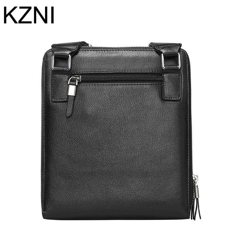 ФОТО KZNI Men bag chain genuine leather crossbody bags for Men leather handbags borse donna marche famose 2017 brand L031515