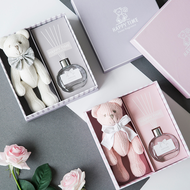 Fragrance Diffuser Gift Set For Women Bear Toy Home 30ml Essential Oil Birthday Ideas