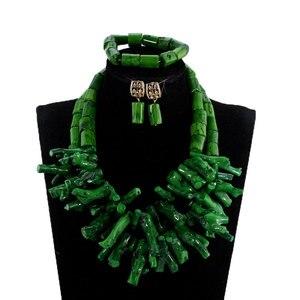Комплект ювелирных изделий из коралловых бусин в Африканском и нигерийском стилях CNR035