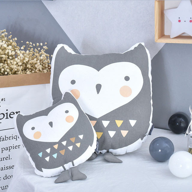 Owl Pillow Cushion Baby Kids Decorative Nursery