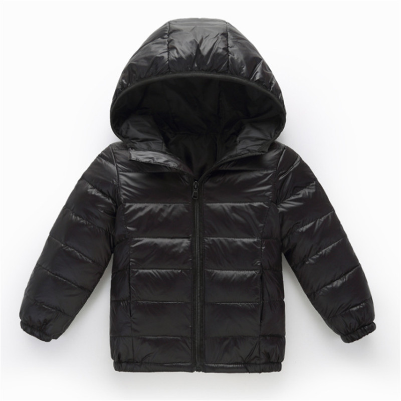 Unisex Kids Boys Girls Down Coat Puffer Jacket Teen Hoodie Parka Lightweight Winter Warm Quilted Thin Outerwear Children's Gift