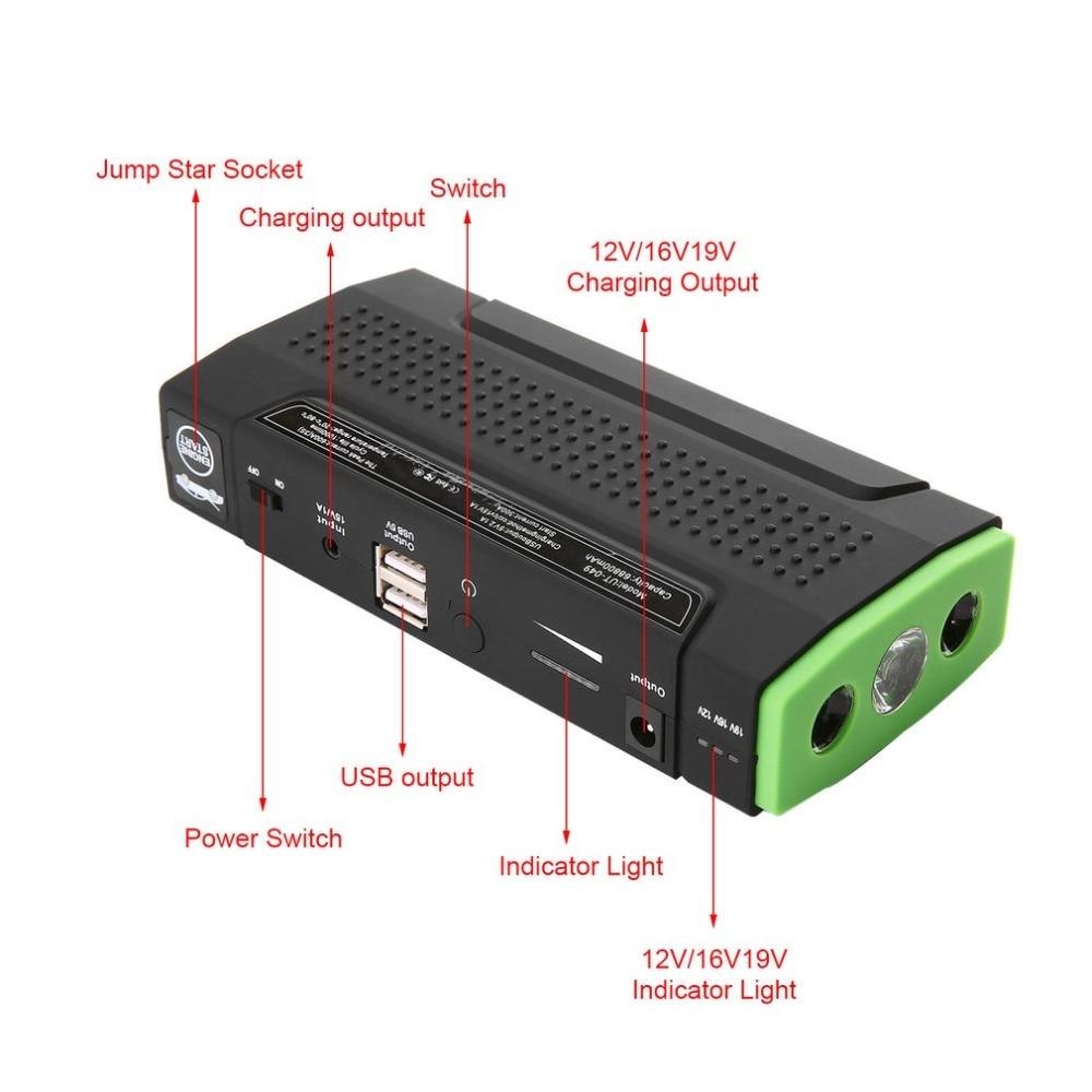 BLY-16 Multifunctional 82800mAh Large Capacity Portable Vehicle Power Car Jump Starter Mini Emergency Booster Power Bank