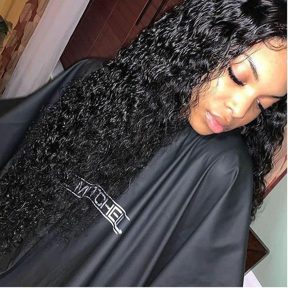 Кудрявый парик, глубокая часть, 13х6, парики из натуральных волос на фронте шнурка, прозрачные кружевные парики, перуанские парики на фронте ш... - 3