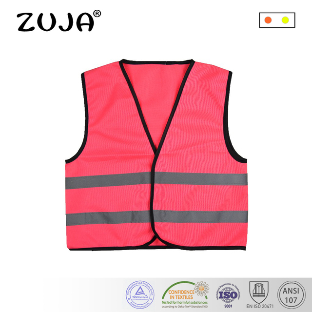 Màu hồng Phản Chiếu Trẻ Em Vest An Toàn Trẻ Em Bảo Vệ Quần Áo