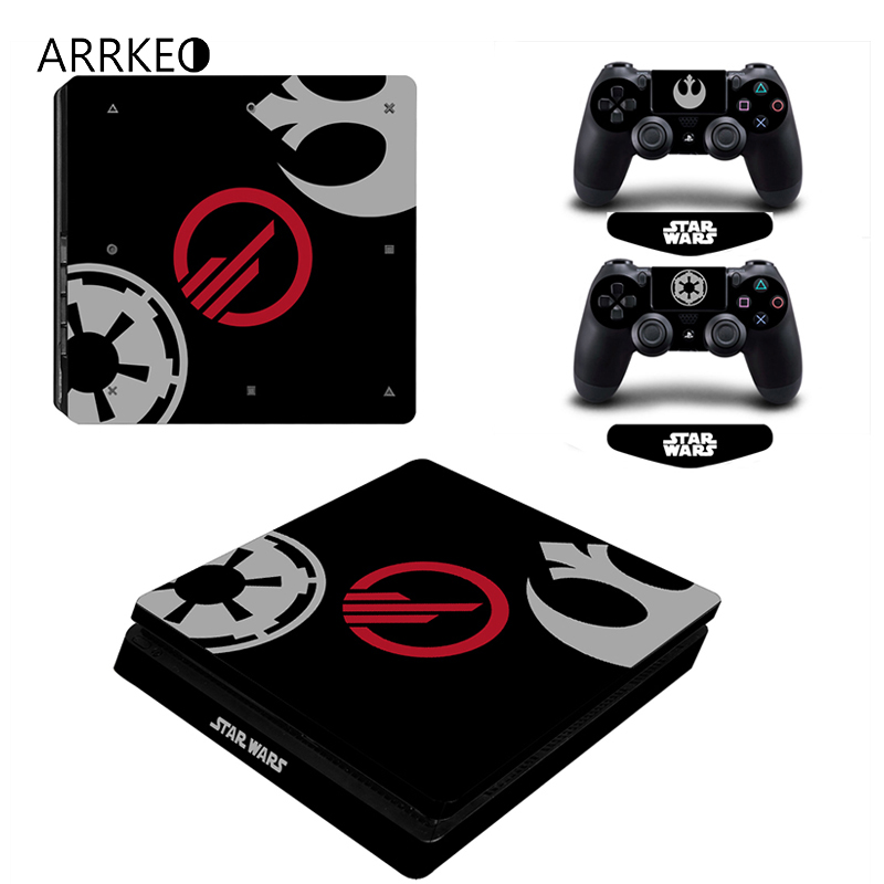 8ca627d5bb33 ARRKEO Star Wars Vinyl Cover Decal PS4 Slim Skin Sticker for Sony PlayStation  4 Slim Console