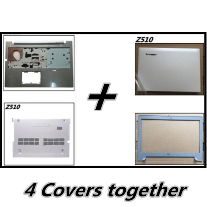 Palmrest Upper Cover Bottom Base Cover For Lenovo Z510 LCD Back Cover Top Case Bezel Front Frame Housing Case Lan Port