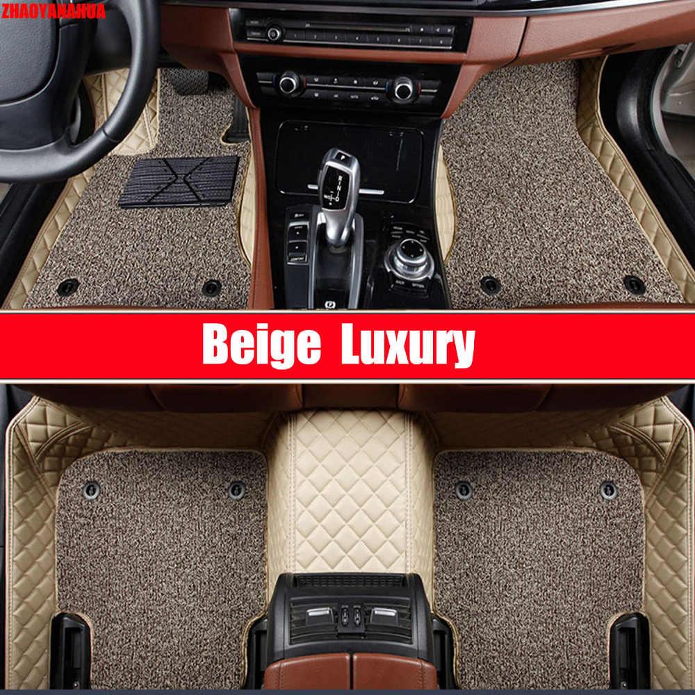 Zhaoyanhua Mobil Lantai Tikar Khusus untuk Chevrolet Trax Malibu Cruze Captiva Sonic Aveo 6D Mobil Styling Karpet Permadani Liners