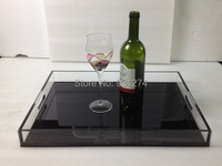 New Acrylic Fruit Trays,Lucite wine glass&bottle serving tray,Home Sundries Tray