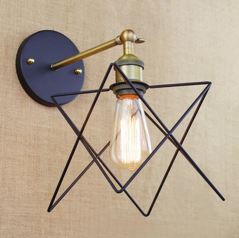 Loft Style Decorative Vintage Edison Wall Sconce Fold Mirror Wall Light Fixtures Industrial Wall Lamp For Home Lighting